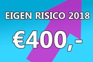 Eigen risico 2018 stijgt naar 400 euro